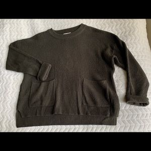 Madewell Army Green Sweater